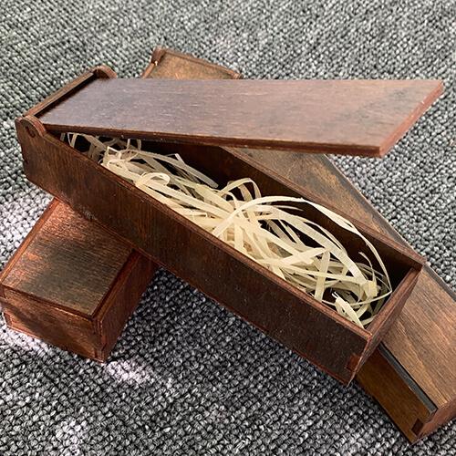 Коробочка для брелока деревянная