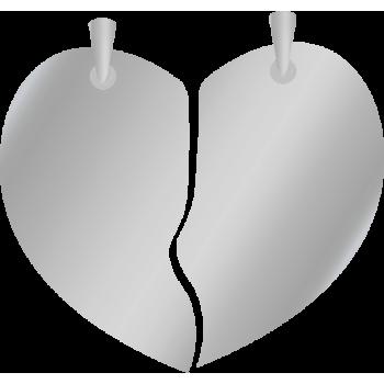 "Кулон ""Половинки сердца"""